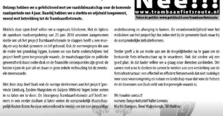 Trambaanfietsroute CDA VAALS Burgerinitiatief Oud Lemiers